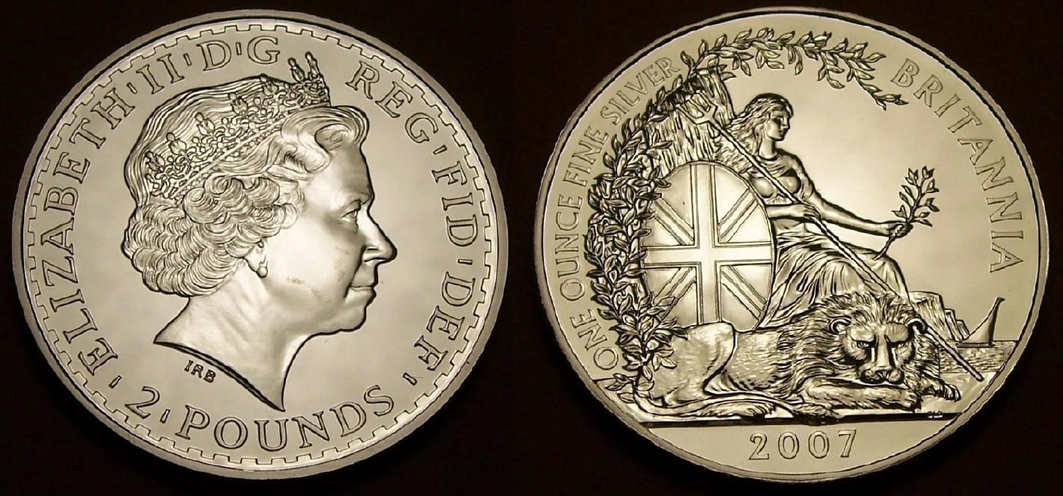 Picture Of A 1 Ounce Silver Great Britain Britannia 163 2 2007