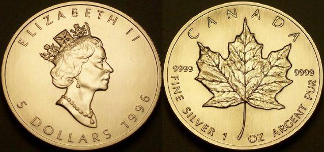 1oz 1997 Canada Silver Maple Leaf RCM 1 oz Sealed Scarce date