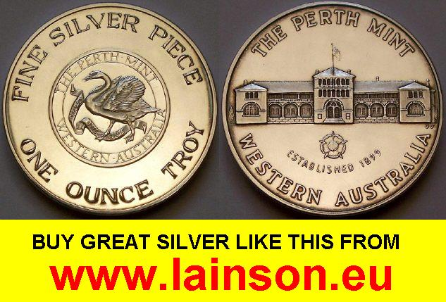 Image Of A Perth Mint 1 Oz Silver Round From Www Lainson Eu